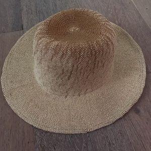 brixton wide brim straw fedora sun hat